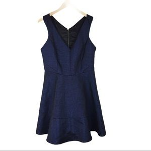 Express midnight blue sparkly party dress